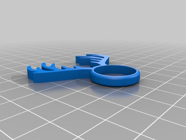 麋鹿戒指 3D模型  图6