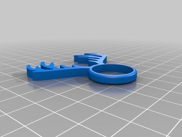 麋鹿戒指 3D模型  图9