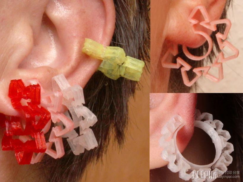 耳环/花瓶/手镯 3D模型  图1