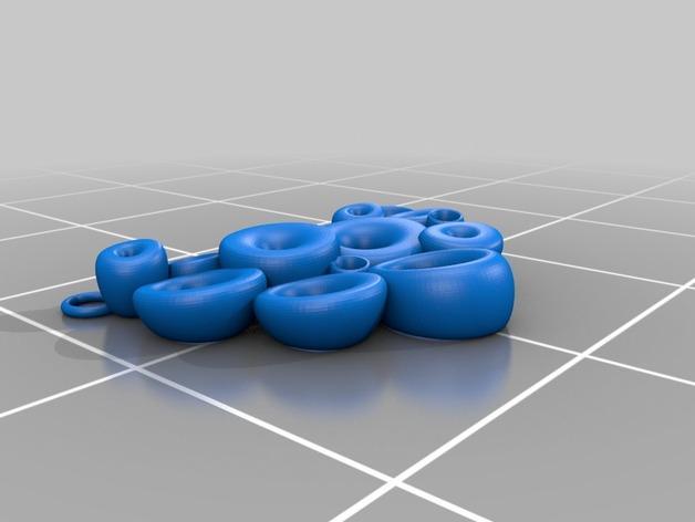 泡泡项链 3D模型  图2