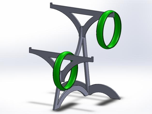 手镯收纳架 3D模型  图1