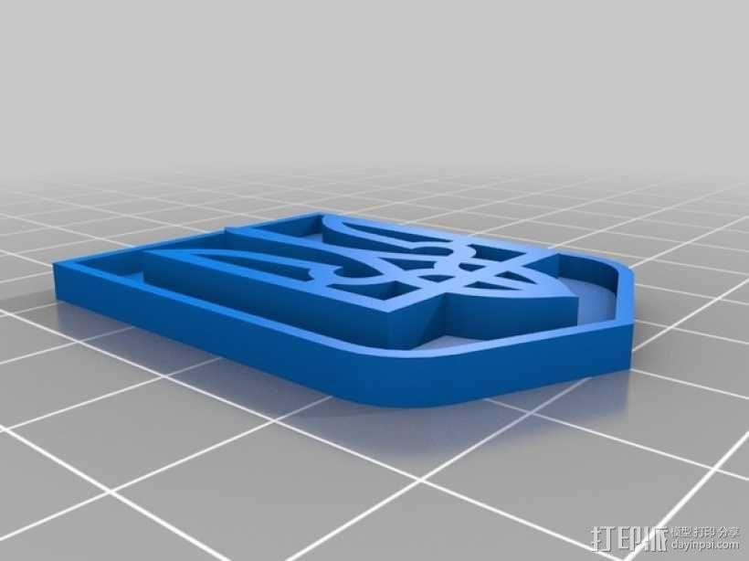 乌克兰国徽 3D模型  图2