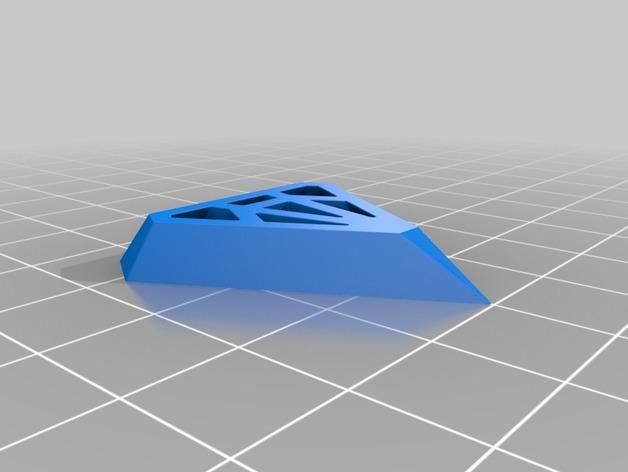 钻石形吊坠 3D模型  图2