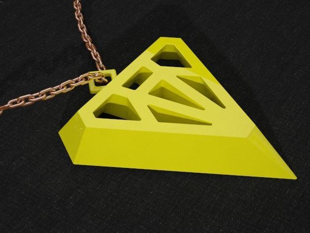 钻石形吊坠 3D模型  图3