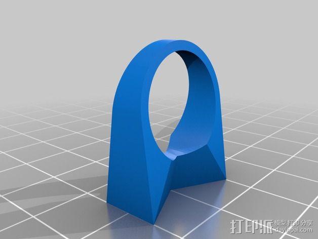 蝴蝶结指环 3D模型  图2