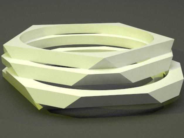 低多边形手镯 3D模型  图5