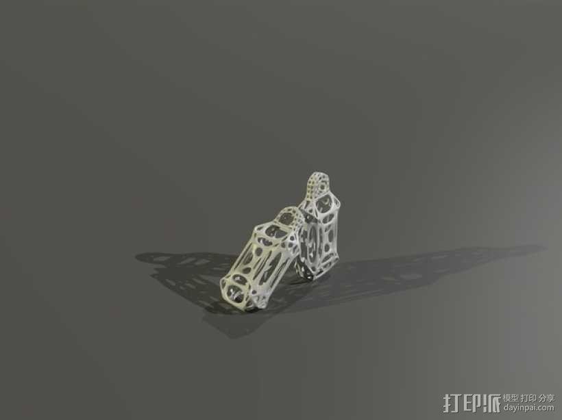 镂空耳环 3D模型  图3