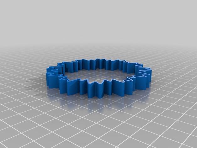 定制化POW手环 3D模型  图2