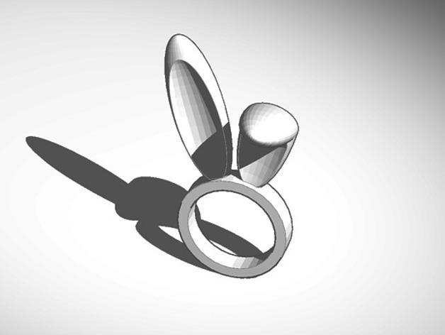 复活节兔子指环 3D模型  图2