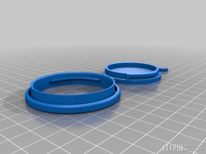 罐头盖 3D模型  图3