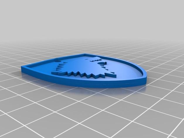 史塔克Stark钥匙扣 3D模型  图3