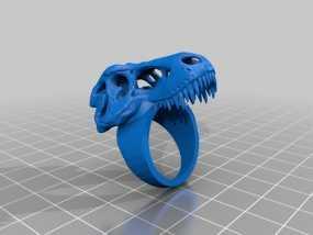 恐龙头 指环 3D模型