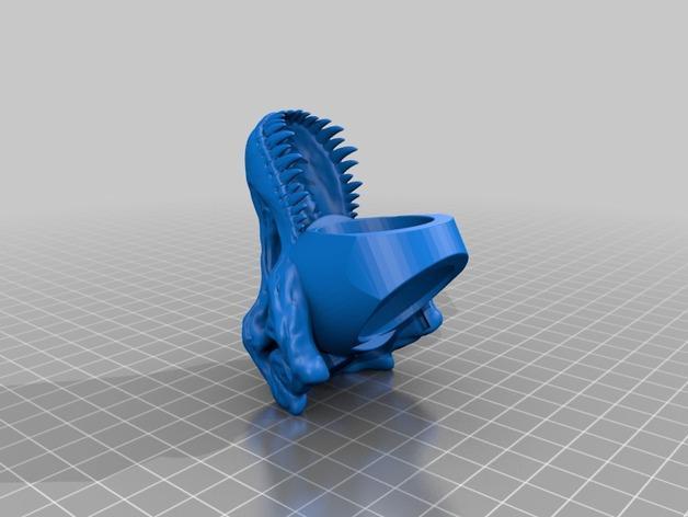 恐龙头 指环 3D模型  图4