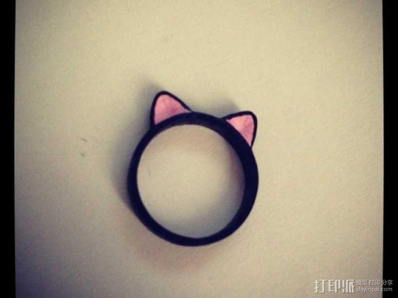猫耳指环 3D模型  图1