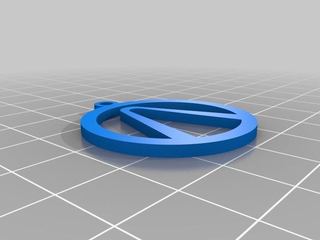 电子游戏LOGO钥匙扣 3D模型  图3