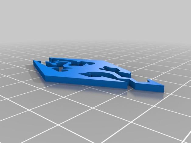 电子游戏LOGO钥匙扣 3D模型  图2