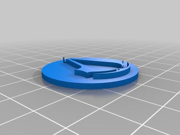 电子游戏LOGO钥匙扣 3D模型  图4