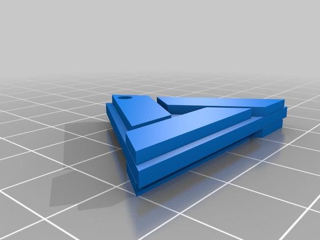 电子游戏LOGO钥匙扣 3D模型  图6