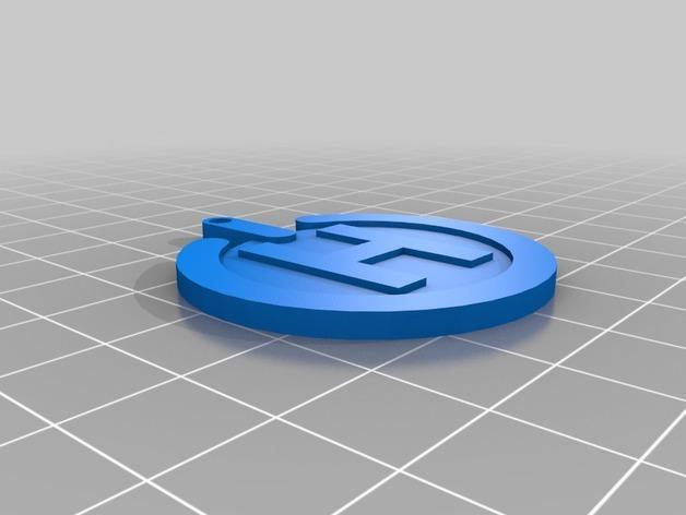 电子游戏LOGO钥匙扣 3D模型  图9