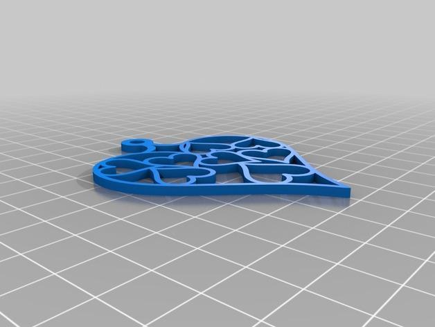 心形吊坠Mk 2 3D模型  图2