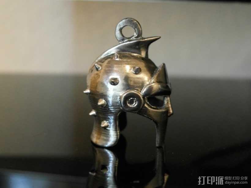 角斗士头盔 钥匙扣 吊坠 3D模型  图3