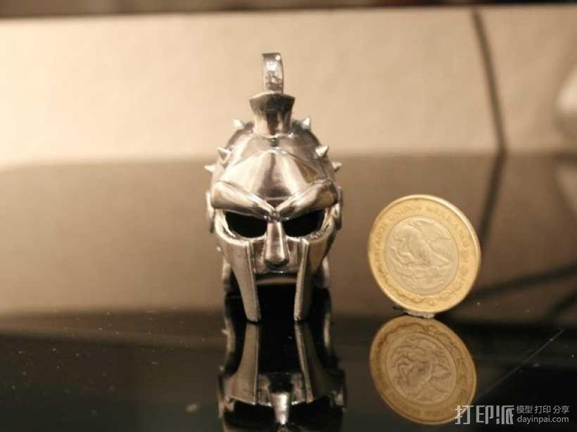 角斗士头盔 钥匙扣 吊坠 3D模型  图2