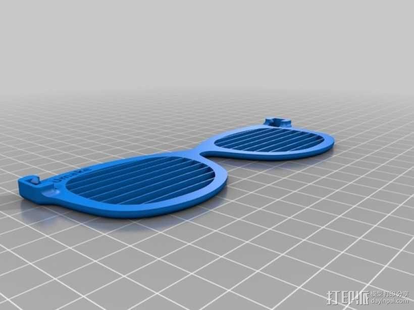 百叶窗眼镜 3D模型  图2