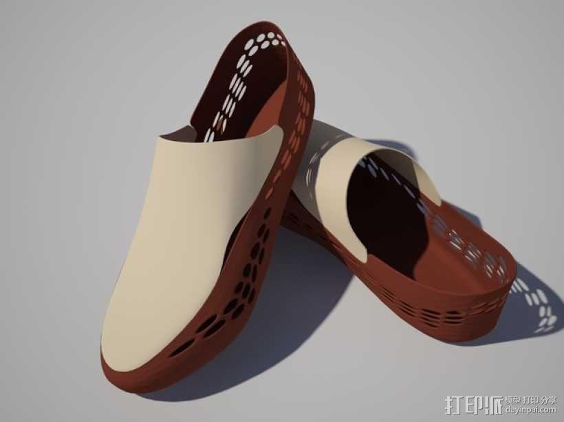帆船鞋 3D模型  图1