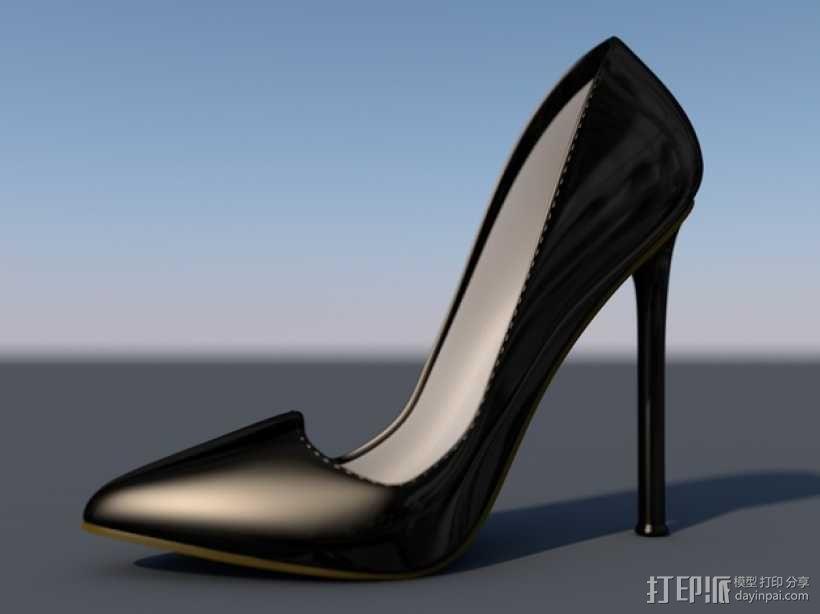Pigalle高跟鞋 3D模型  图1
