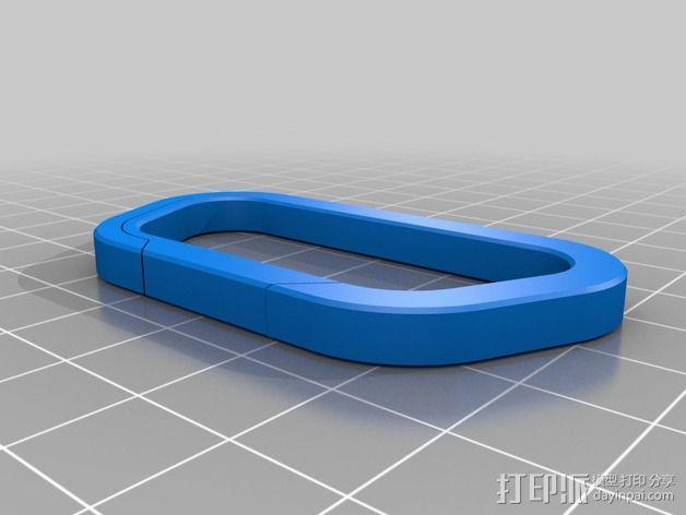 对称形状 登山扣 3D模型  图3