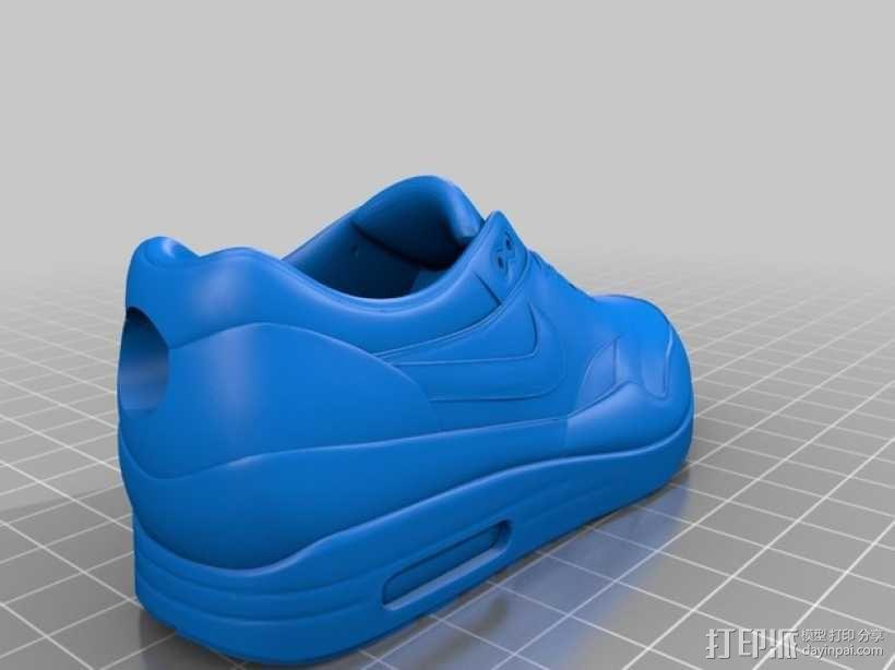 耐克运动鞋钥匙扣 3D模型  图2
