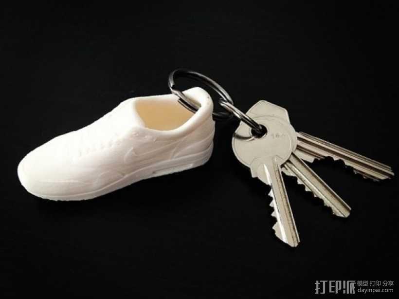 耐克运动鞋钥匙扣 3D模型  图1