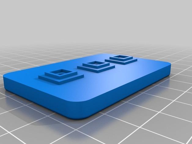 LED发光皮带扣 3D模型  图7