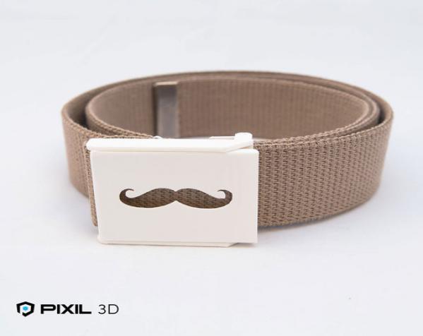 小胡子 皮带搭扣 3D模型  图1