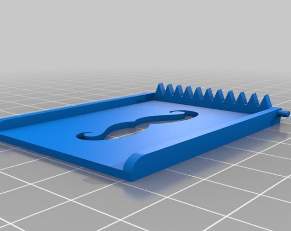 小胡子 皮带搭扣 3D模型  图3