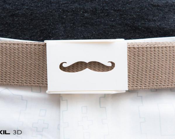 小胡子 皮带搭扣 3D模型  图2