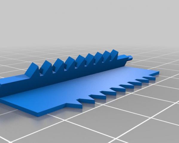 小胡子 皮带搭扣 3D模型  图5
