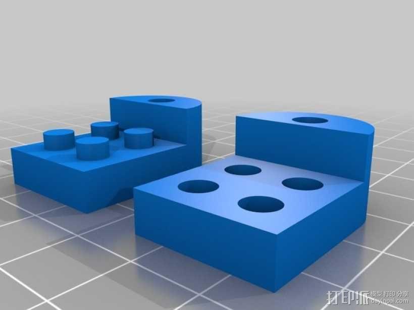乐高积木 钥匙扣  3D模型  图2