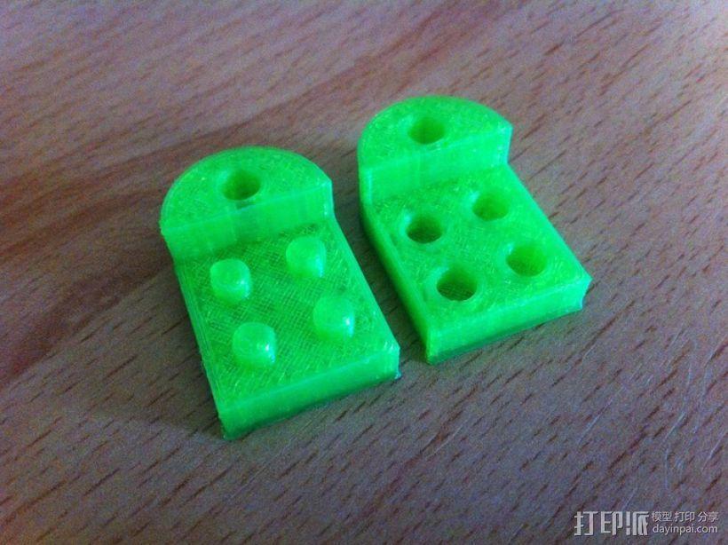 乐高积木 钥匙扣  3D模型  图1