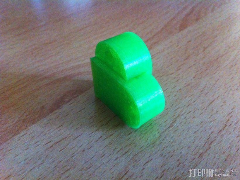 乐高积木 钥匙扣  3D模型  图3