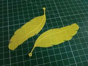 羽毛耳环 3D模型