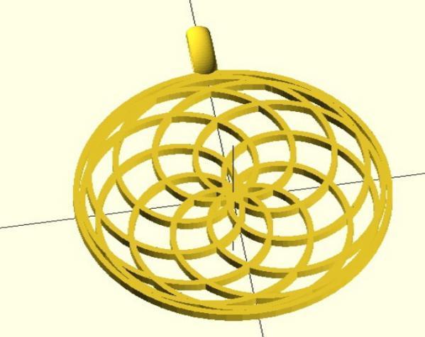 玫瑰线 吊坠 3D模型  图2