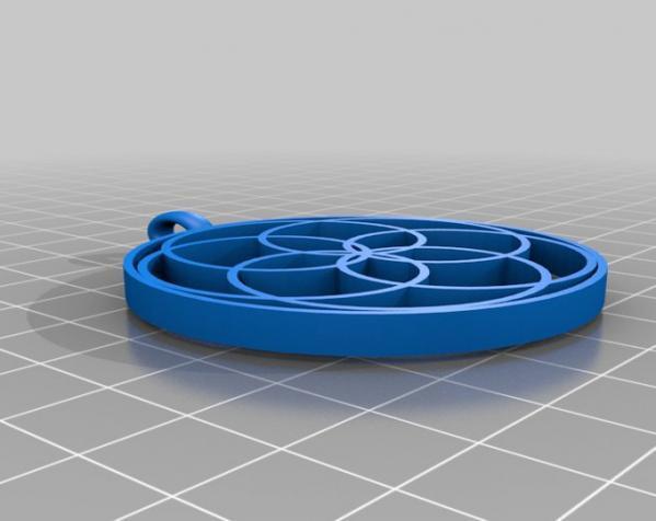 玫瑰线 吊坠 3D模型  图5