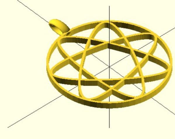 玫瑰线 吊坠 3D模型  图8