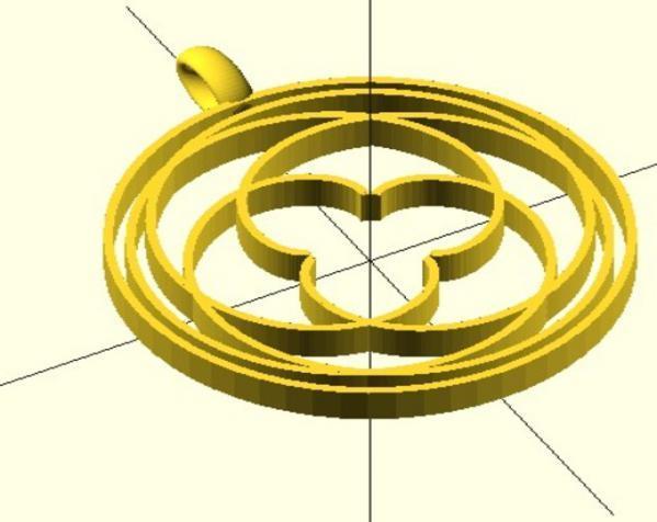 玫瑰线 吊坠 3D模型  图7