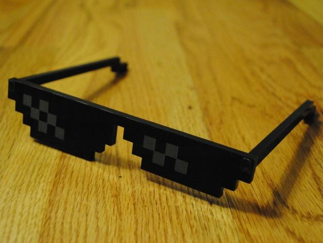 Deal With It像素眼镜 3D模型  图2