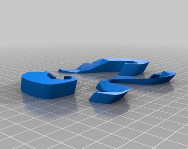 八字须 面具 3D模型  图1