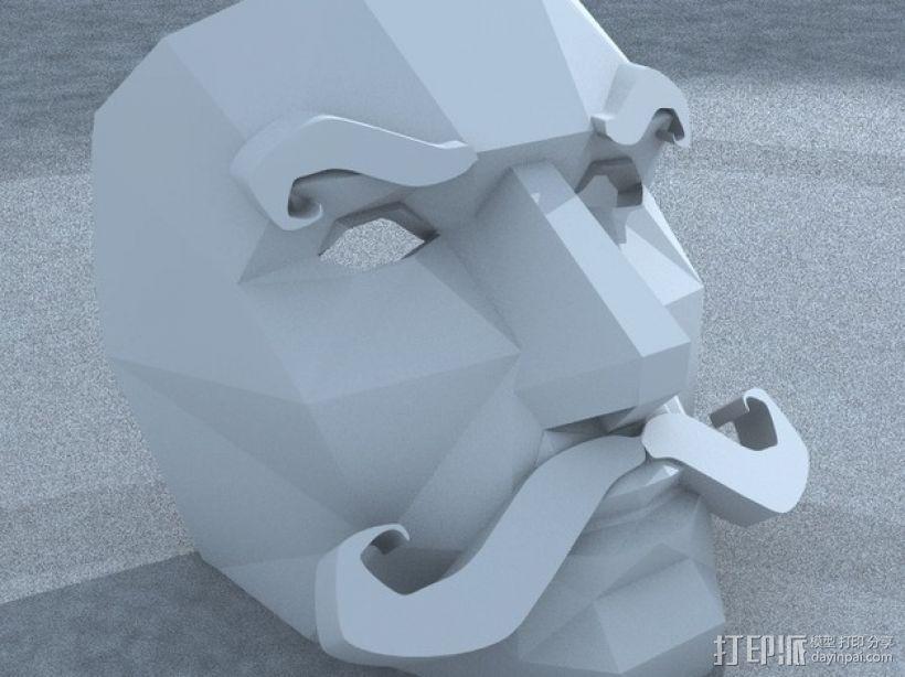八字须 面具 3D模型  图2