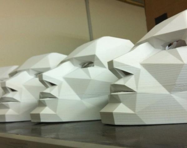 八字须 面具 3D模型  图5