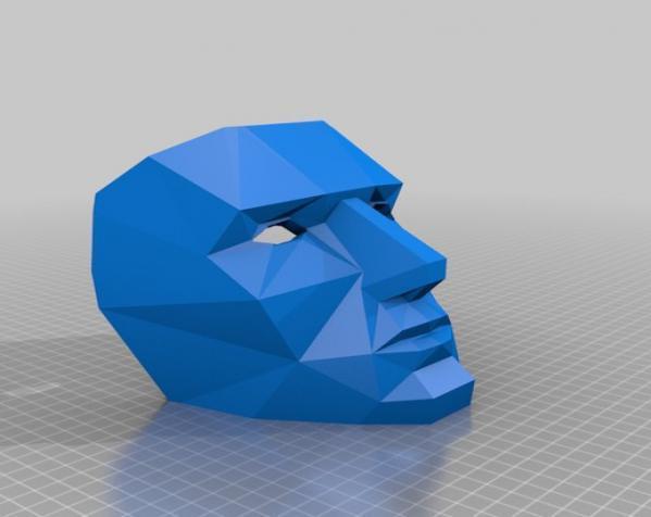八字须 面具 3D模型  图3